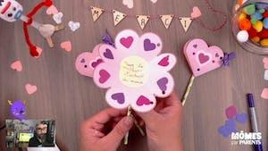 Vidéo - Replay - Mômes Part en Live - cadeau fin d'année - message en forme de fleur
