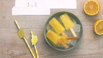 Vidéo - glace à l'eau au citron (sans colorant)