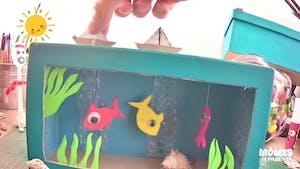 Vidéo - Replay - Mômes Part en Live - aquarium en carton