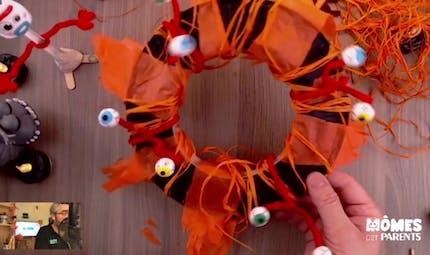 Vidéo - Replay - Mômes Part en Live - couronne de porte Halloween
